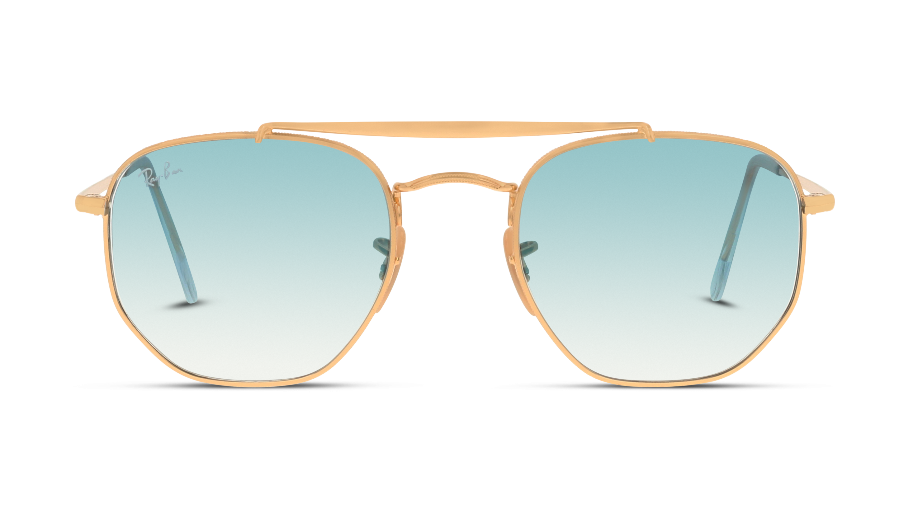 Front Ray-Ban Ray-Ban 0RB3648 001/3F 51/21 Goud/Blauw