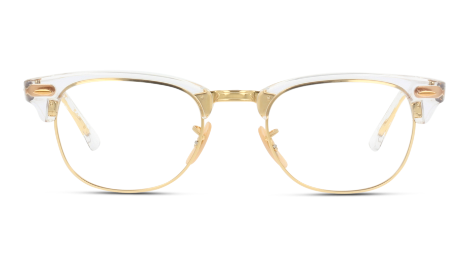 Front Ray-Ban RX 5154 Dourado, Transparente