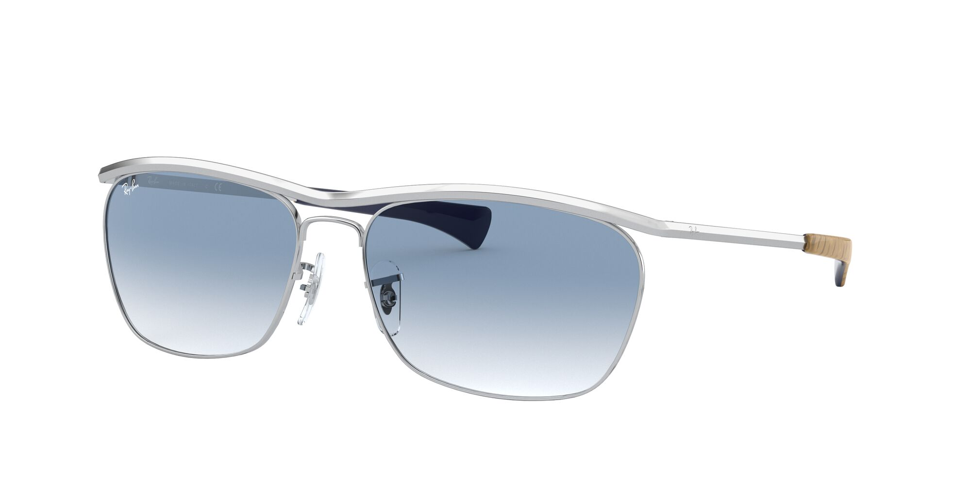 Angle_Left01 Ray-Ban Ray-Ban 0RB3619 003/3F 60/16 Zilver/Blauw