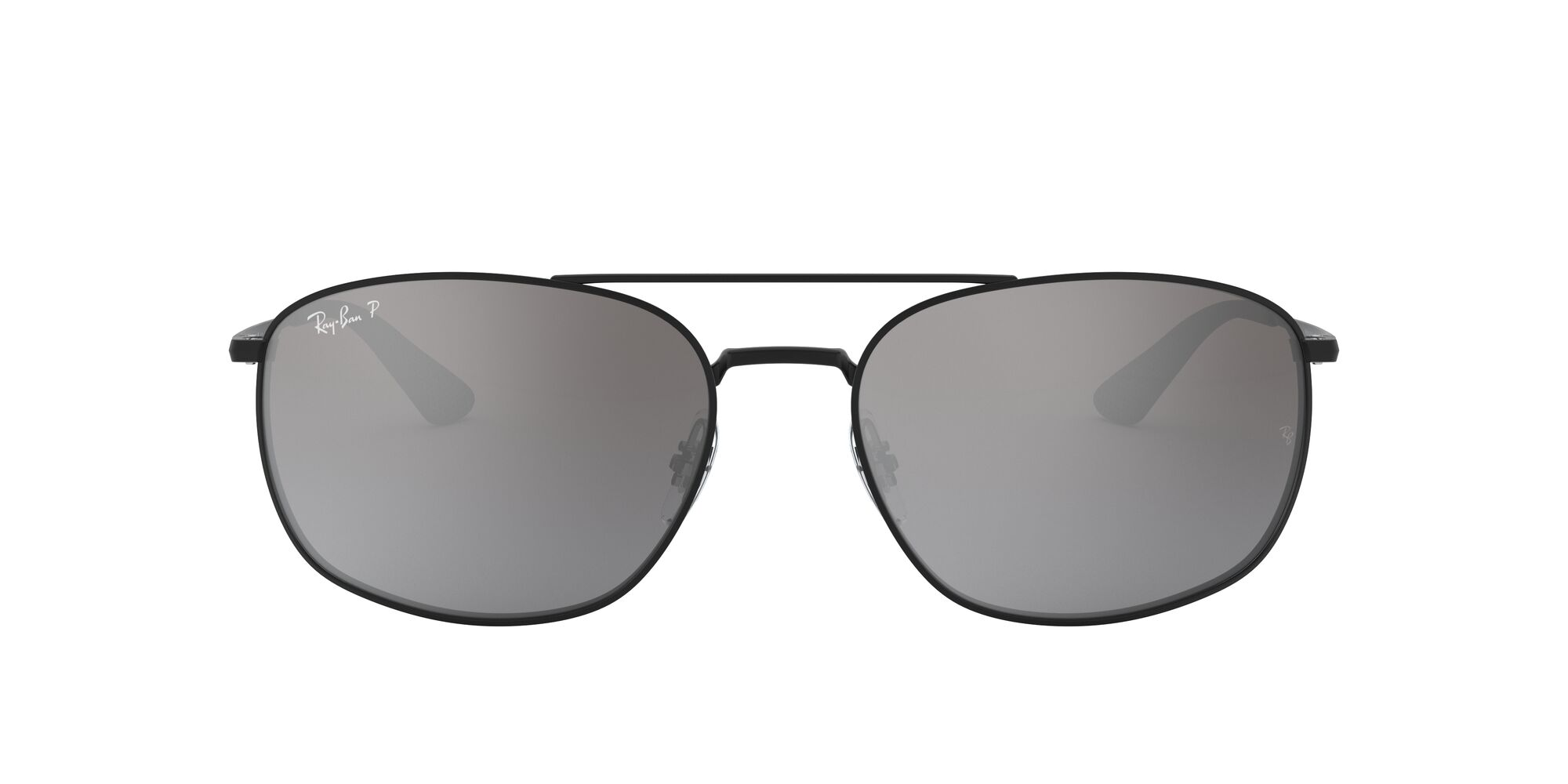 Front Ray-Ban Ray-Ban 0RB3654 002/82 60/18 Zwart/Zilver