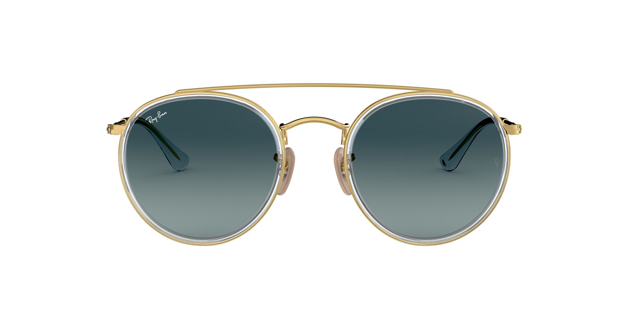 Front Ray-Ban Ray-Ban 0RB3647N 91233M 51/22 Goud/Blauw
