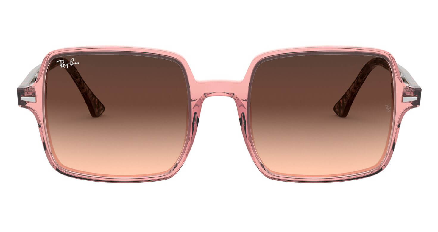 Front Ray-Ban Ray-Ban 0RB1973 1282A5 53/20 Transparant, Roze/Bruin