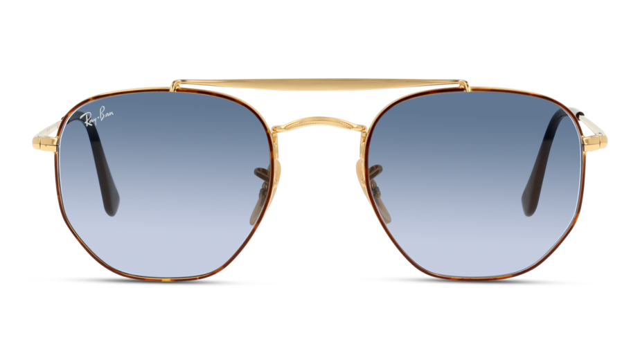 Front Ray-Ban Ray-Ban 0RB3648 91023M 54/21 Gold, Bruin/Blauw