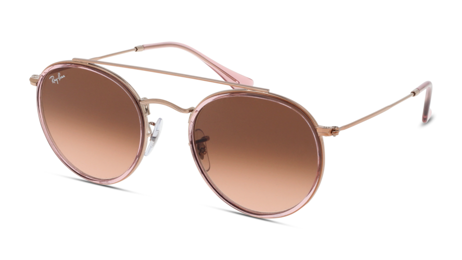 Angle_Left01 Ray-Ban Ray-Ban 0RB3647N 9069A5 51/22 Roze, Goud/Roze