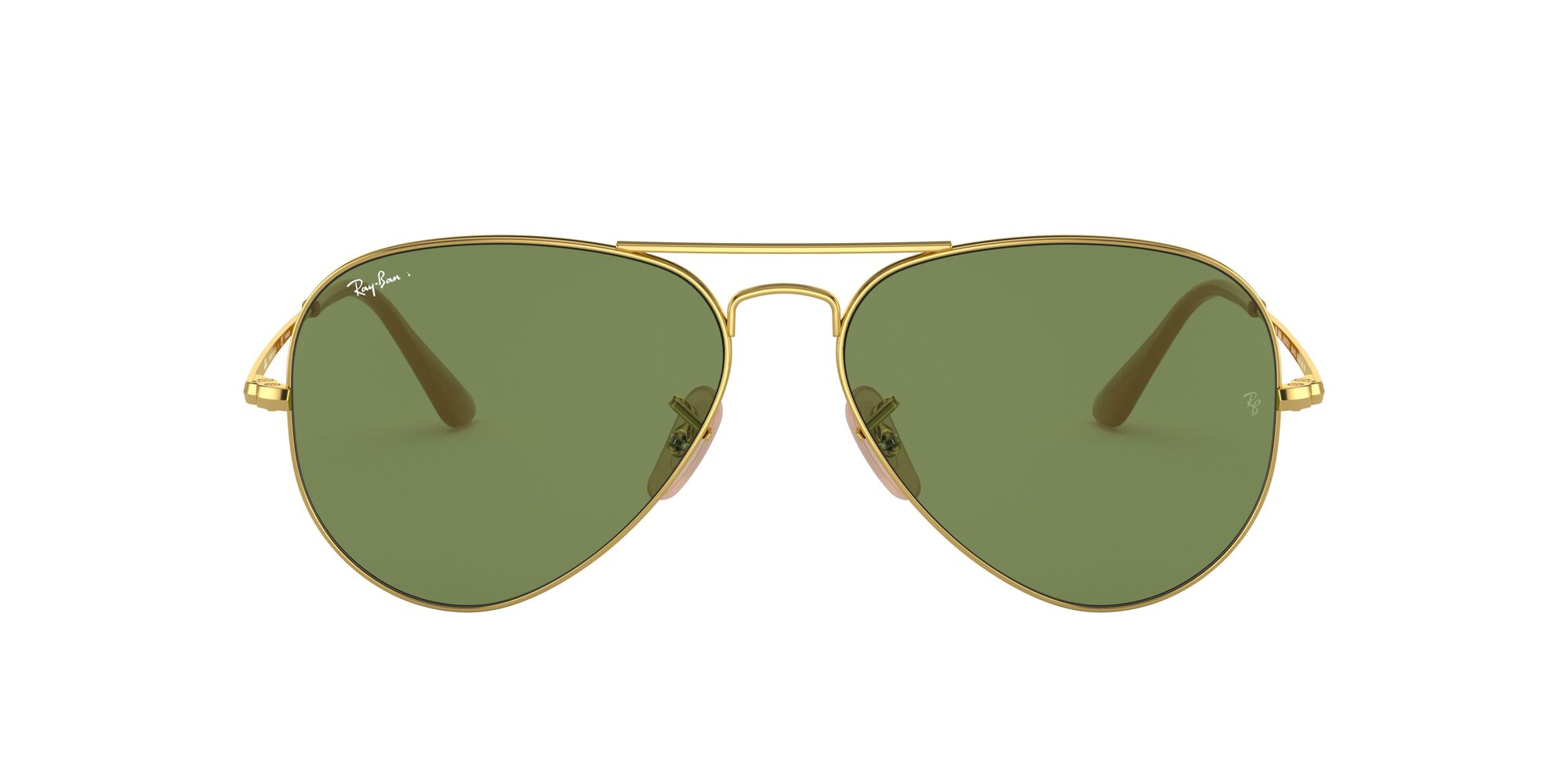 Front Ray-Ban Ray-Ban 0RB3689 9064O9 55/14 Goud/Groen
