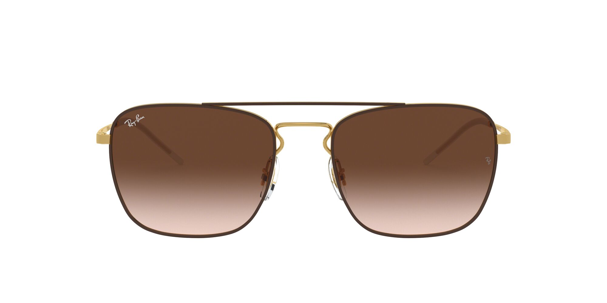 Front Ray-Ban Ray-Ban RB3588 905513 55/19 Goud, Bruin/Bruin