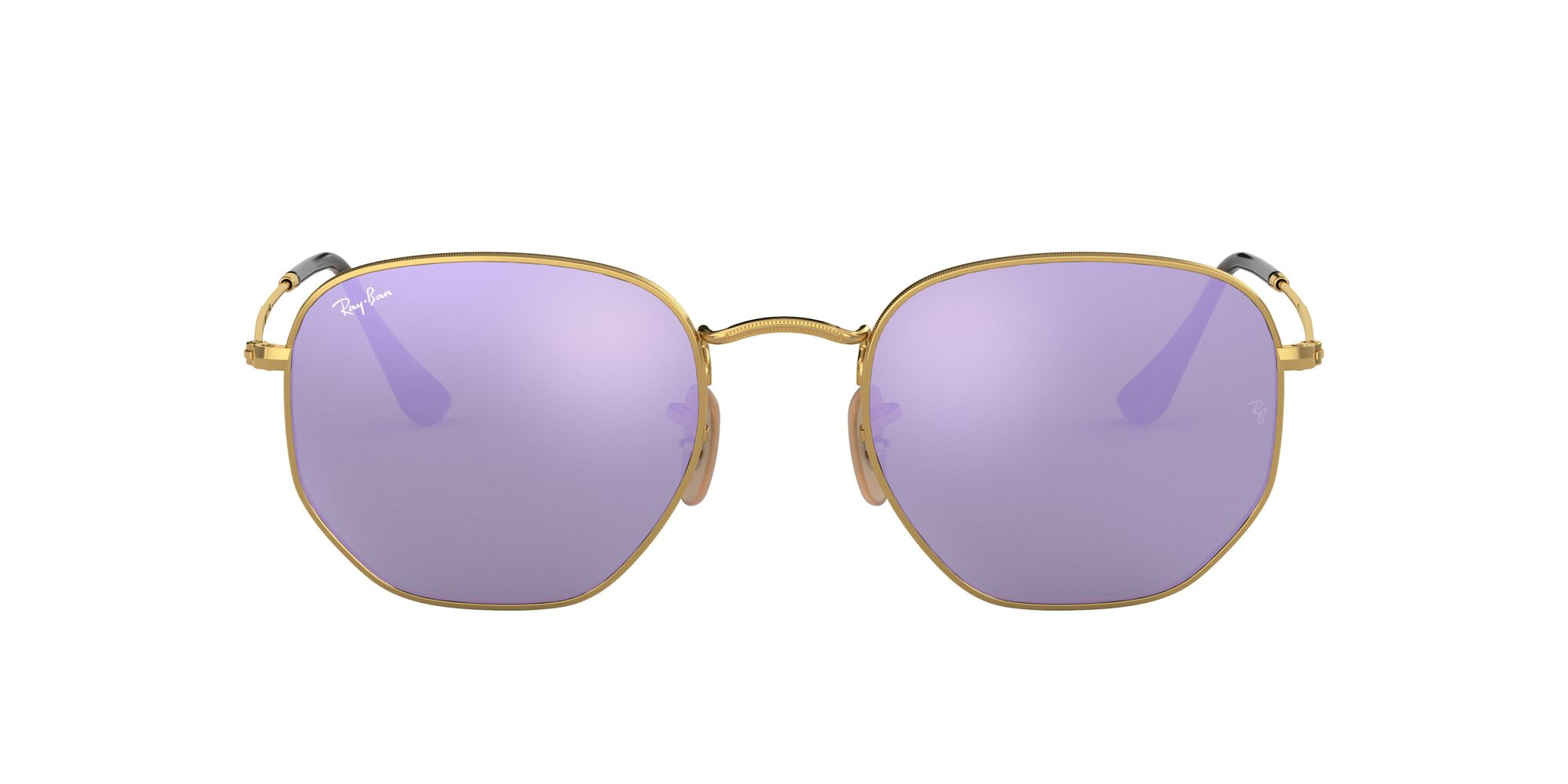 Front Ray-Ban Ray-Ban 0RB3548N 001/8O 48/21 Goud/Paars