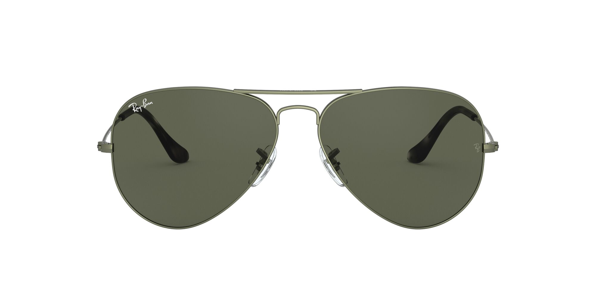 Front Ray-Ban Ray-Ban 0RB3025 919131 62/14 Beige, Green/Groen