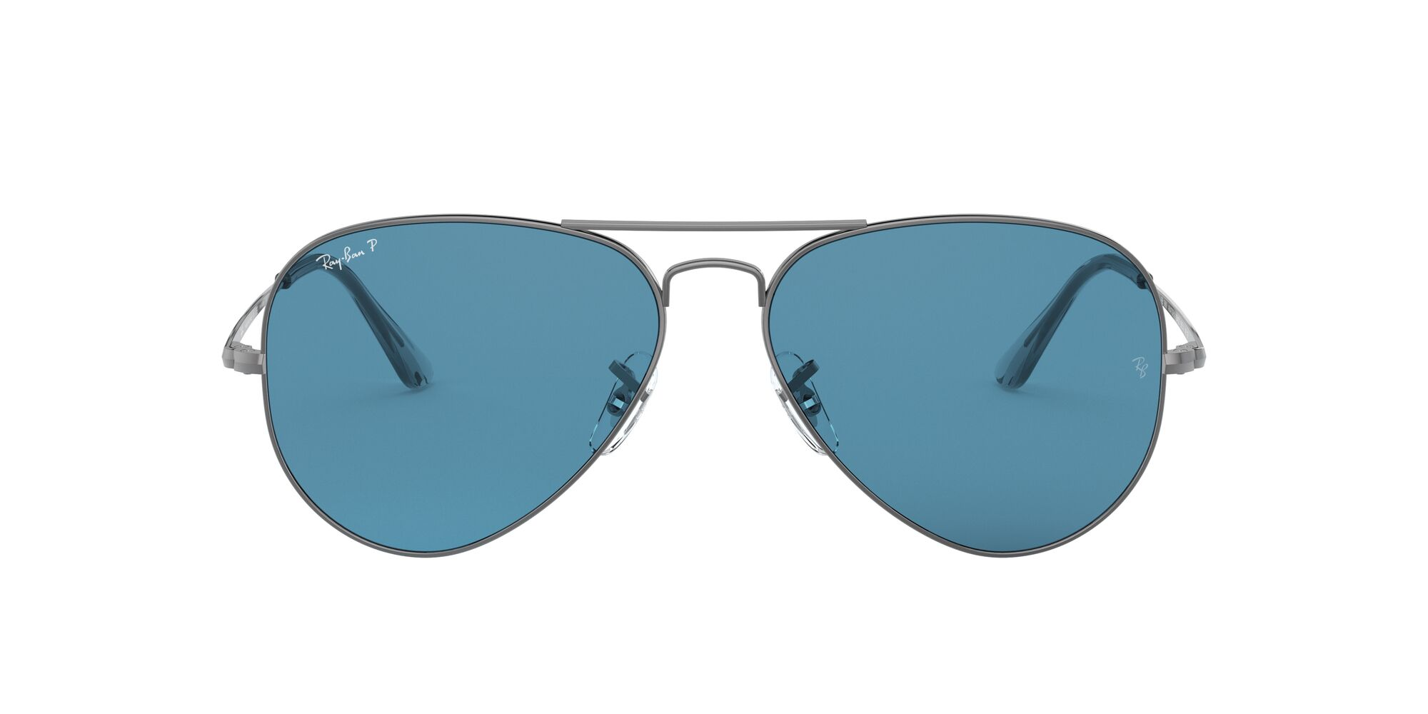 Front Ray-Ban Ray-Ban 0RB3689 004/S2 54/14 Zilver/Blauw