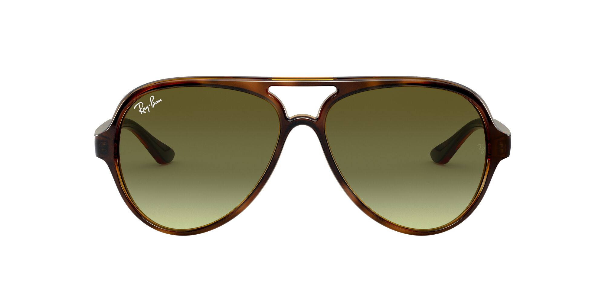Front Ray-Ban Ray-Ban 0RB4125 710/A6 57/13 Zilver, Bruin/Groen