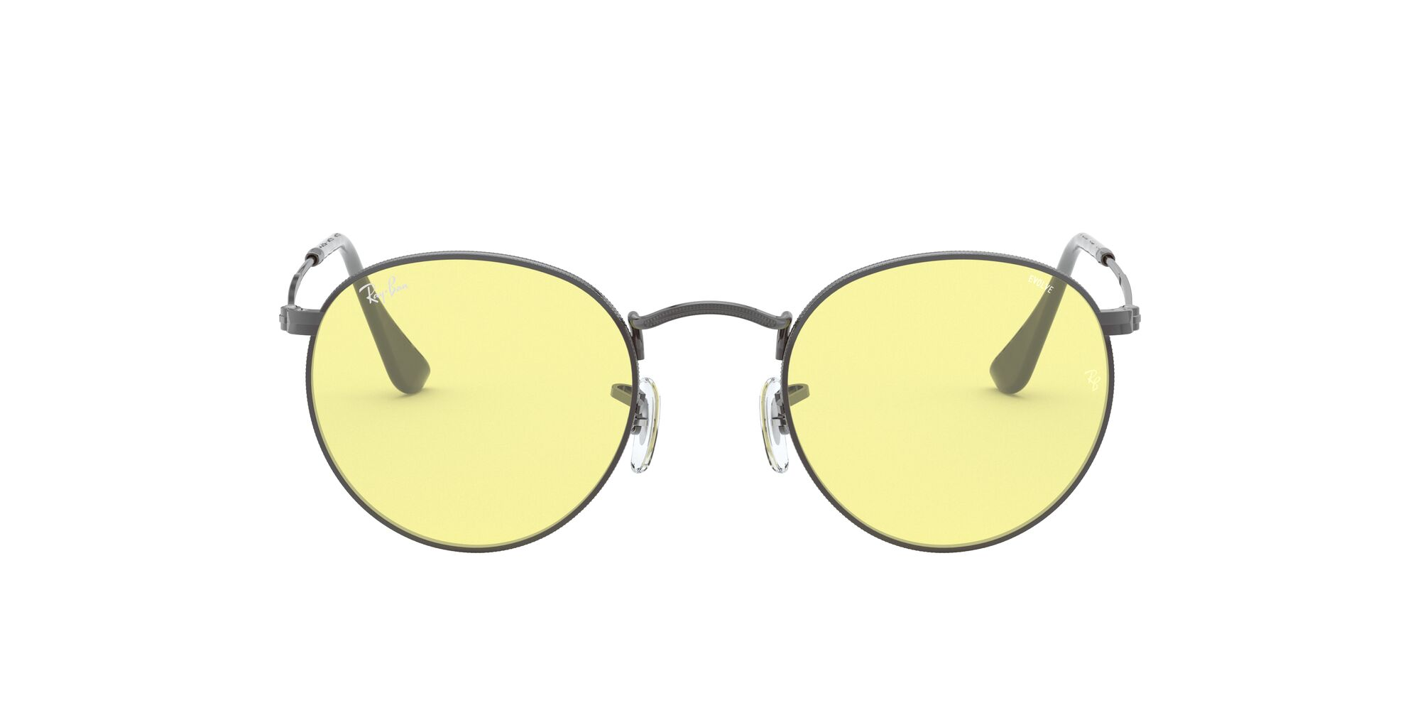 Front Ray-Ban Ray-Ban 0RB3447 004/T4 52/21 Zilver/Geel