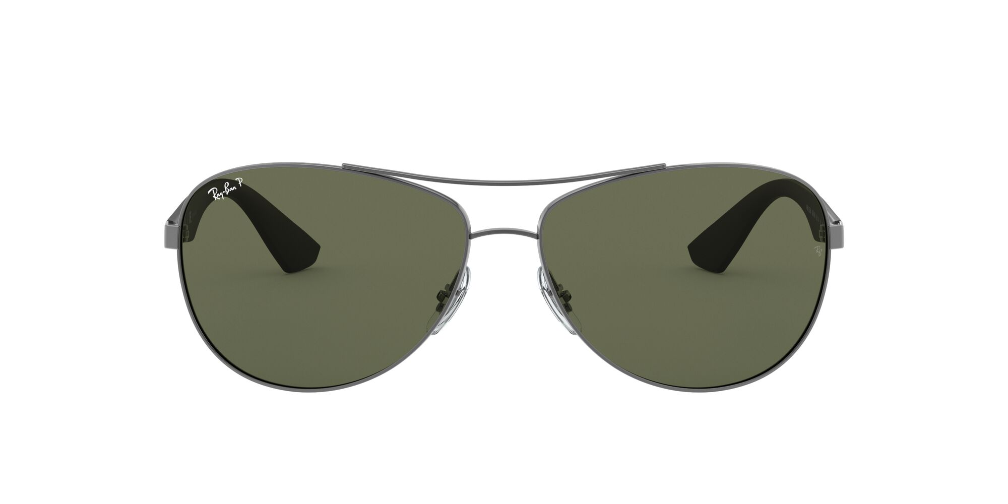 Front Ray-Ban Ray-Ban 3526 029/9A 63/14 Zilver/Groen
