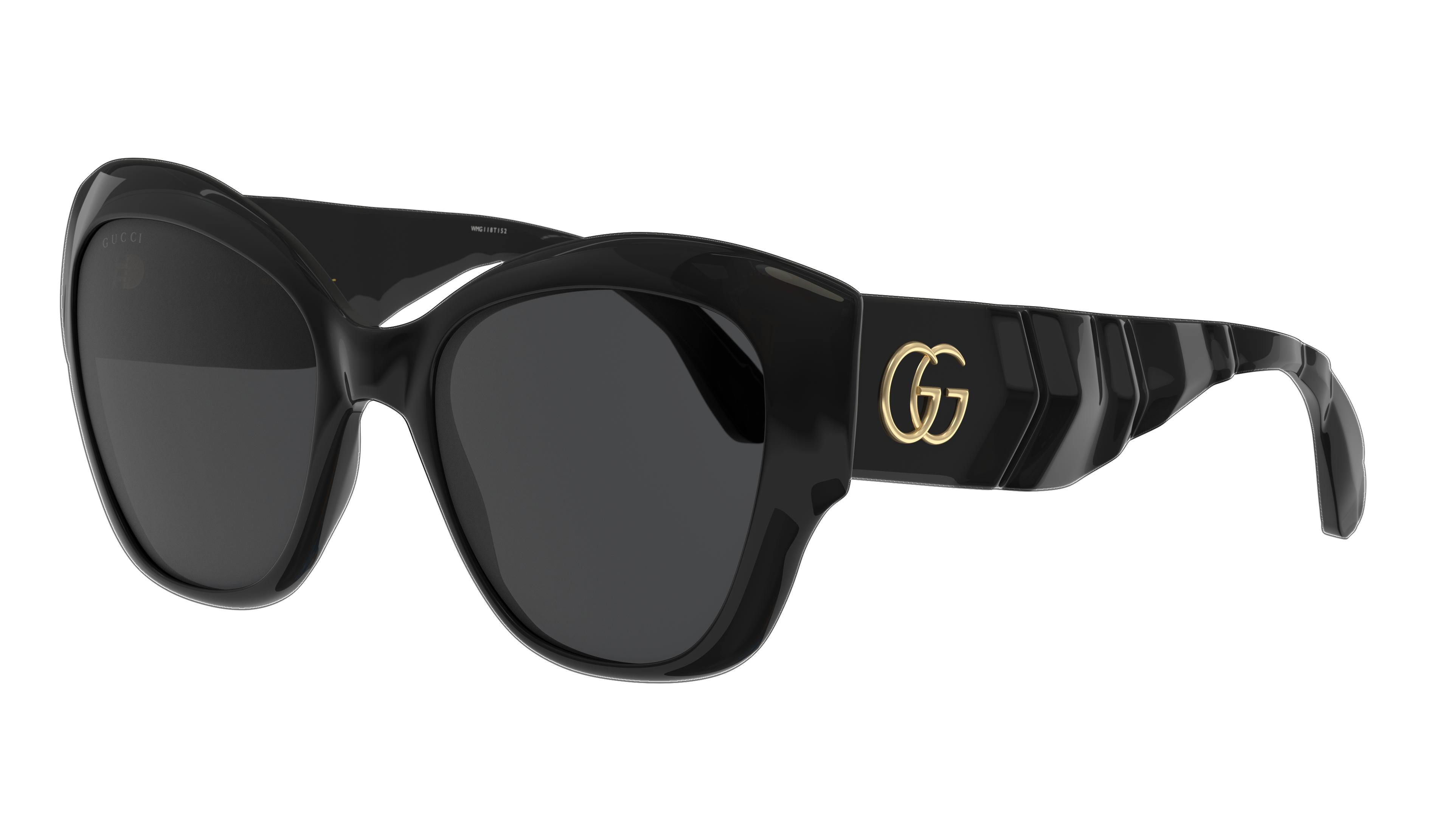 Angle_Left01 Gucci Gucci GG0808S 001 53/20 Zwart/Grijs