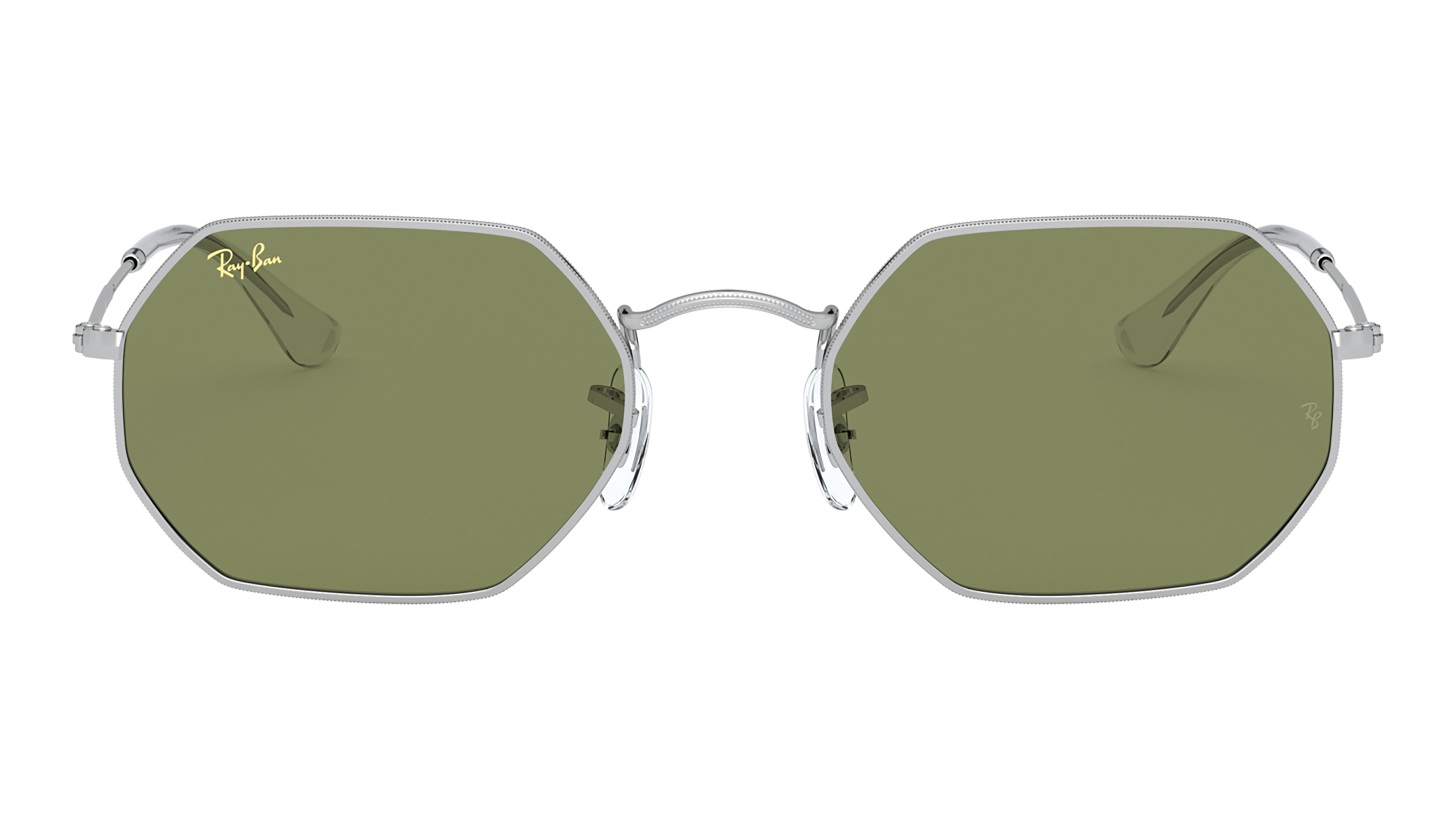 Front Ray-Ban Ray-Ban 0RB3556 91984E 53/21 Zilver/Groen